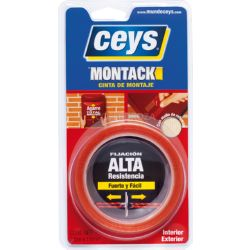 CINTA DB CARA MULTIMATERIAL CEYS 2,5MX19MM 507240