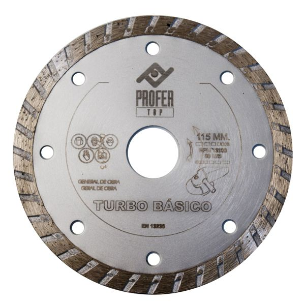 DISCO DIAMANTE TURBO BASICO PROFER TOP 115X7 MM PT1011