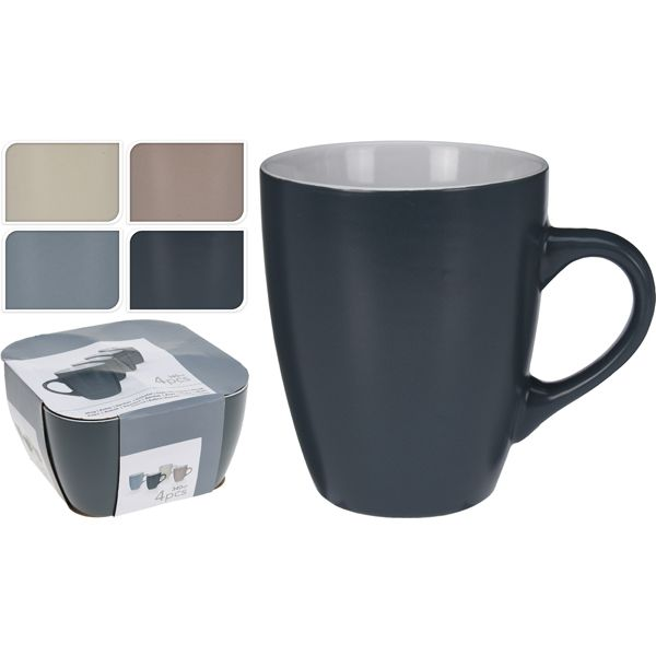 TAZON MUG PORCELANA SET-4 34 CL